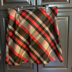 Women's Chadwick's plaid A-line short skirt sz 14P